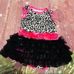 ❤️ Baby Glam Pink Ruffle Tutu Romper 6-9 Months